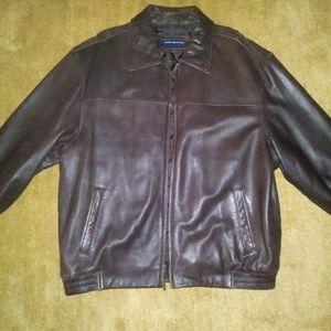 John Ashford Brown Leather Jacket